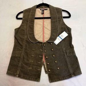 DKNY corduroy vest, NWT, size XL/XG (junior)